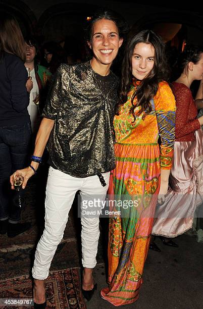 Isabel Marant and Amba Jackson attend the Isabel Marant London dinner and party on December 5 2013 in London United Kingdom