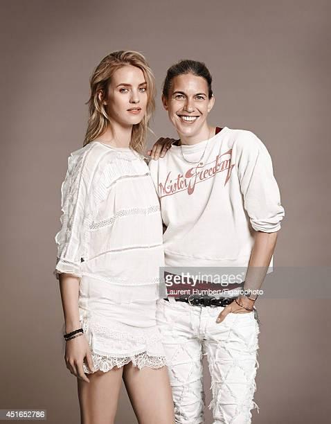 Isabel Marant FIGARO ID: 109776-002. Fashion designer Isabel Marant is photographed for Madame Figaro on April 30, 2014 in Paris, France. Model...