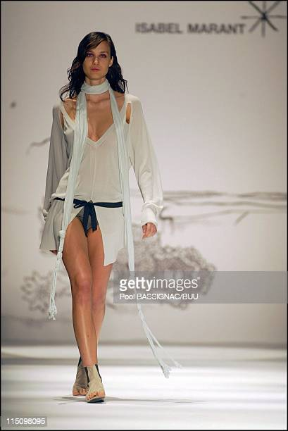 Isabel Marant spring-summer 2004 ready to wear collection in Paris, France on October 07, 2003.