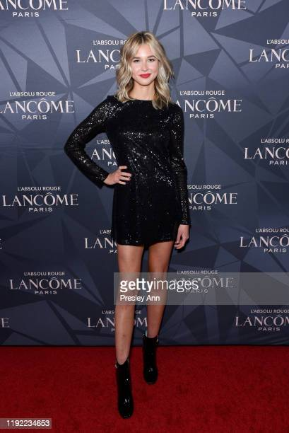 Isabel May attends Lancôme x Vogue L'Absolu Ruby Holiday Event at Raspoutine on December 05 2019 in West Hollywood California