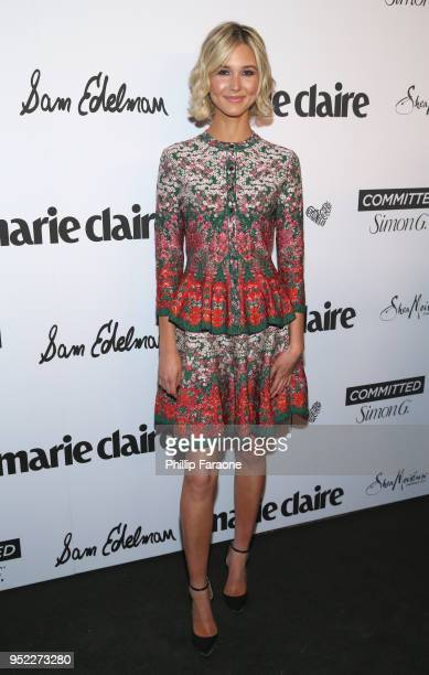 Isabel May attends Marie Claire Celebrates Fifth Annual 'Fresh Faces' in Hollywood with SheaMoisture Simon G and Sam Edelman at Poppy on April 27...