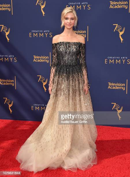 Isabel May attends the 2018 Creative Arts Emmy Awards at Microsoft Theater on September 8 2018 in Los Angeles California