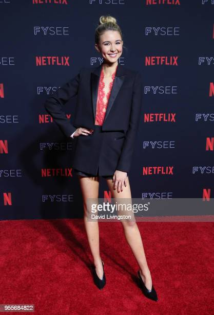 Isabel May attends the Netflix FYSEE KickOff at Netflix FYSEE at Raleigh Studios on May 6 2018 in Los Angeles California