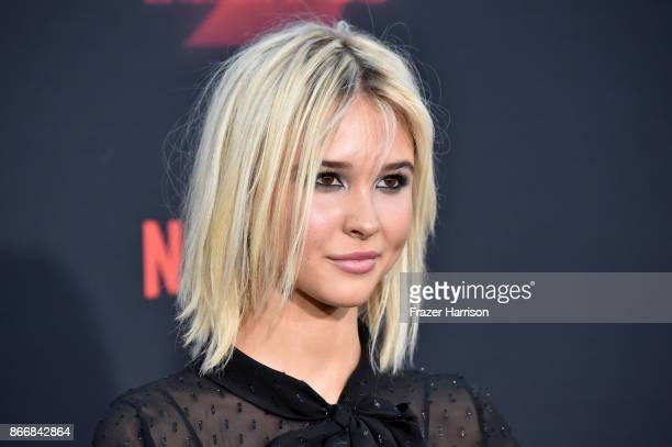 Isabel May attends the premiere of Netflix's Stranger Things Season 2 at Regency Bruin Theatre on October 26 2017 in Los Angeles California