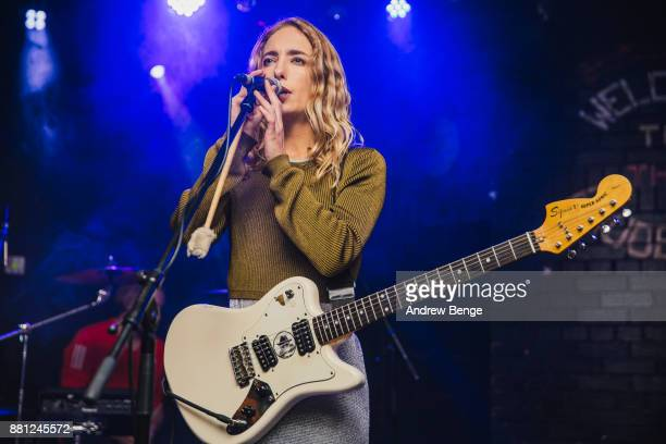 Isabel Munoz-Newsome of Pumarosa performs at Brudenell Social Club on November 28, 2017 in Leeds, England.