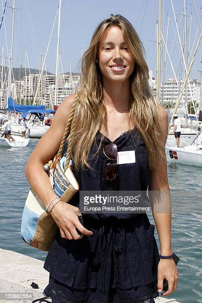 Isabel Nadal Rafa Nadal´s sister is seen during the 30th Copa del Rey Audi Mapfre Sailing Cup closing ceremony at the Real Club Nautico on August 06...