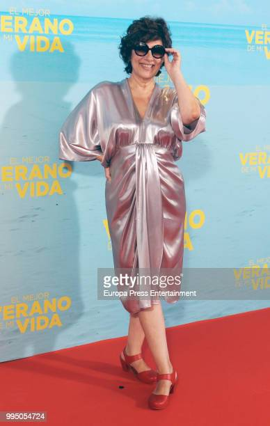 Isabel Ordaz attends 'El Mejor Verano De Mi Vida' premiere on July 9 2018 in Madrid Spain