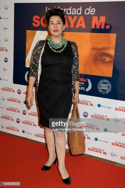 Isabel Ordaz attends 'La verdad de Soraya M' premiere at Cinema Palafox on October 5 2010 in Madrid Spain