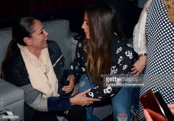 Isabel Pantoja and Anabel Pantoja attend Kiko Rivera's concert on April 6 2018 in Seville Spain