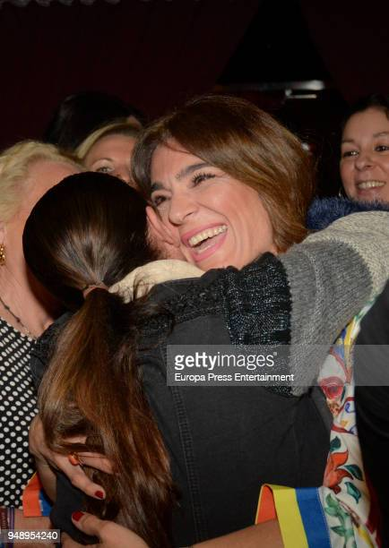 Isabel Pantoja and Raquel Bollo attends Kiko Rivera's concert on April 6 2018 in Seville Spain
