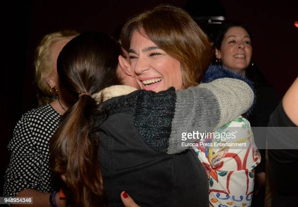 Isabel Pantoja and Raquel Bollo attends Kiko Rivera's concert on April 6 2018 in Seville Spain