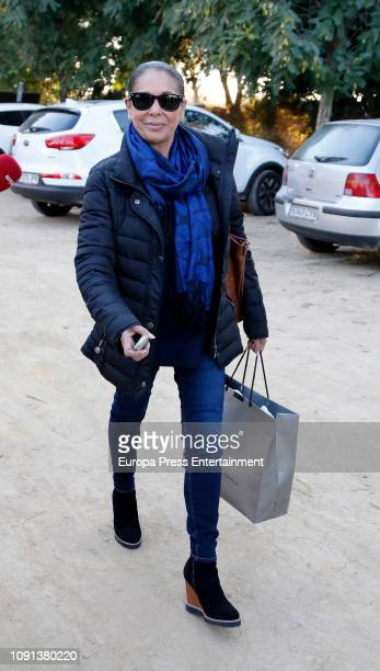 Isabel Pantoja attend a lunch on January 06, 2019 in Madrid, Spain.