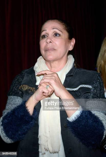 Isabel Pantoja attends Kiko Rivera's concert on April 6 2018 in Seville Spain