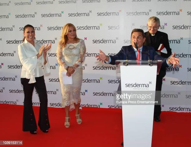 Isabel Pantoja Cristina Tarrega and Gabriel Serrano attend the presentation of Isabel Pantoja as godmother for Sesderma Cosmetic brand on September...