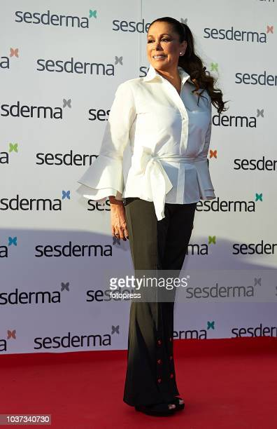 Isabel Pantoja is presented as godmother for Sesderma Cosmetic brand on September 21 2018 in Valencia Spain
