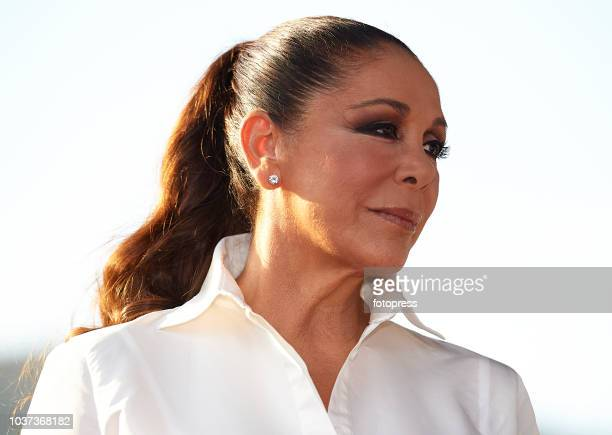 Isabel Pantoja is presented as godmother for Sesderma Cosmetic brand on September 21, 2018 in Valencia, Spain.
