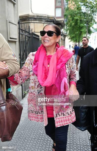 Isabel Pantoja is seen arriving at Bilbao on October 27 2017 in Bilbao Spain