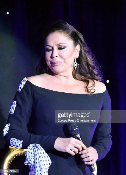 Isabel Pantoja performs during the 'Hasta que se apague el sol' tour at WiZink Center on February 11 2017 in Madrid Spain