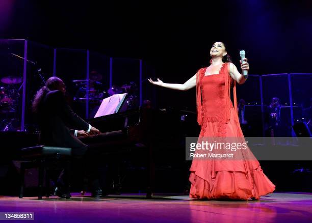 Isabel Pantoja performs in concert at the L'Auditori on December 4, 2011 in Barcelona, Spain.