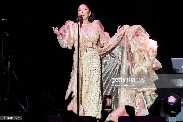 Isabel Pantoja performs in concert at Wizink Center on March 06, 2020 in Madrid, Spain.
