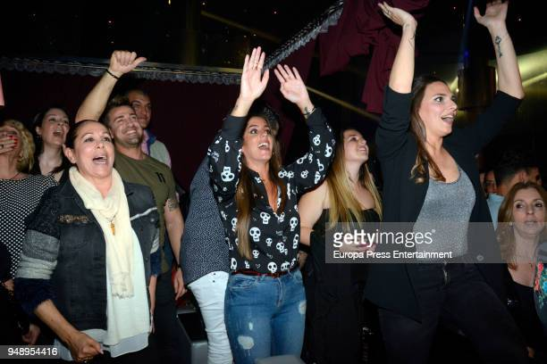 Isabel Pantoja Rafa Mora Anabel Pantoja and Irene Rosales attend Kiko Rivera's concert on April 6 2018 in Seville Spain