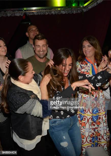Isabel Pantoja Raquel Bollo and Anabel Pantoja attend Kiko Rivera's concert on April 6 2018 in Seville Spain