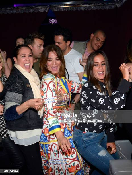 Isabel Pantoja Raquel Bollo and Anabel Pantoja attend Kiko Rivera's concert on April 6 2018 in Seville Spain