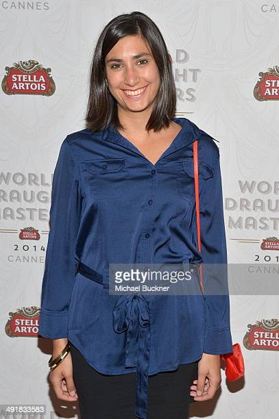Isabel Plant attends the Stella Artois 2014 World Draught Masters Championship at Cannes Film Festival at the Martinez Hotel on May 17 2014 in Cannes...