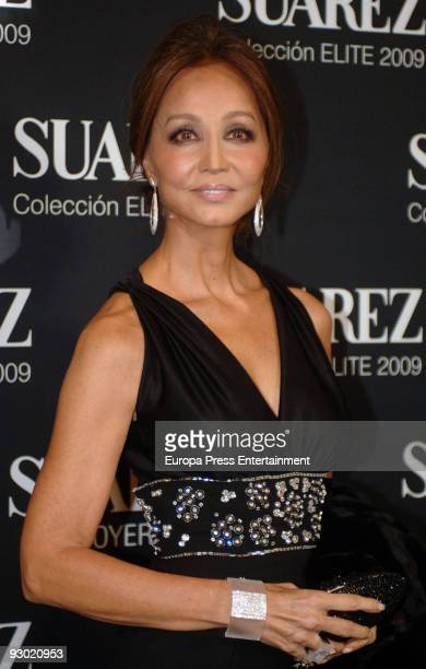 Isabel Presley attends the presentation of 'Elite By You 2009' of jewelery Suarezon November 12 2009 in Barcelona Spain
