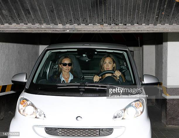Isabel Preysler and her daughter Tamara Falco visit Miguel Boyer at Ruber Hospital on March 31 2012 in Madrid Spain Miguel Boyer suffered a brain...