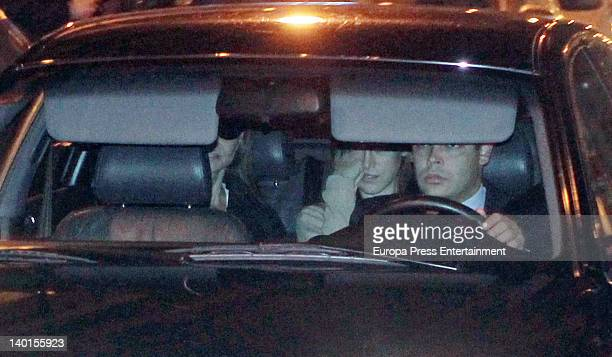Isabel Preysler and her daughter Tamara Falco visit Miguel Boyer who suffered a brain hemorrhage on 27th February In Madrid on February 28 in Miami...