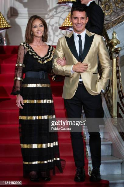 Isabel Preysler and Jesus Vazquez attend the Ferrero Rocher 30th anniversary party at the Italian embassy on October 30 2019 in Madrid Spain