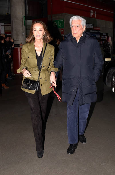 Isabel Preysler and Mario Vargas Llosa attend at the Enrique Iglesias performs on stage at WiZink Center on December 07 2019 in Madrid Spain
