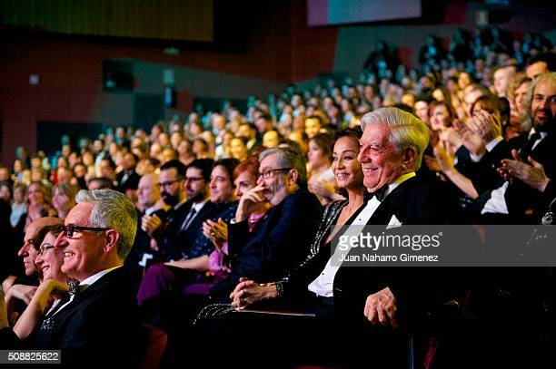 Isabel Preysler and Mario Vargas Llosa attend the 30th edition of the 'Goya Cinema Awards' ceremony at Madrid Marriott Auditorium on February 6, 2016...