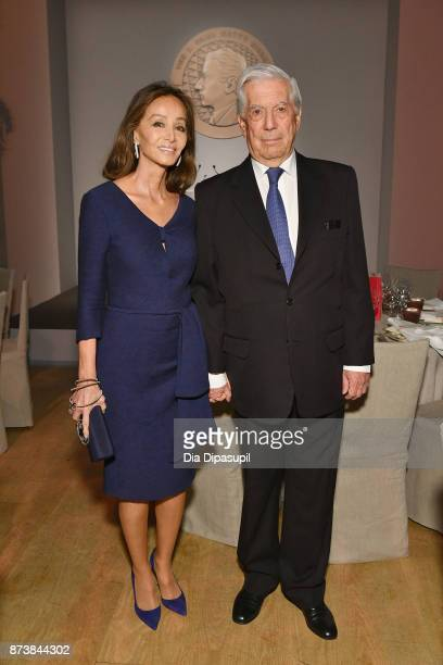 Isabel Preysler and Mario Vargas Llosa attend the Getty Medal Dinner 2017 at The Morgan Library Museum on November 13 2017 in New York City