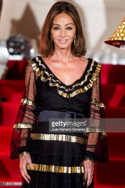 Isabel Preysler attend the Ferrero Rocher 30th anniversary party at the Italian embassy on October 30 2019 in Madrid Spain