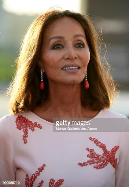 Isabel Preysler attends Arts Sciences and Sports Telva Awards 2018 at Palau de Les Arts Reina Sofia on July 3 2018 in Valencia Spain