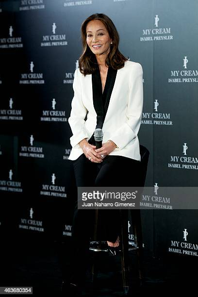 Isabel Preysler attends 'My Cream' new cosmetic presentation at Villa Magna Hotel on February 17 2015 in Madrid Spain