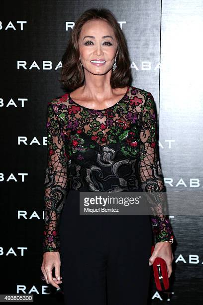 Isabel Preysler attends Rabat Jewelry Boutique Inauguration on October 22 2015 in Barcelona Spain