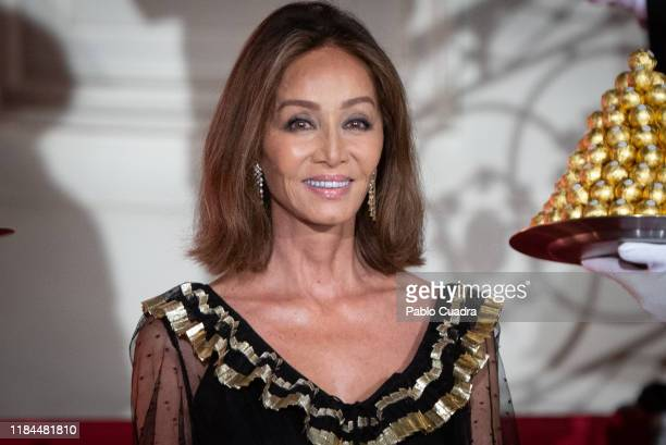 Isabel Preysler attends the Ferrero Rocher 30th anniversary party at the Italian embassy on October 30 2019 in Madrid Spain