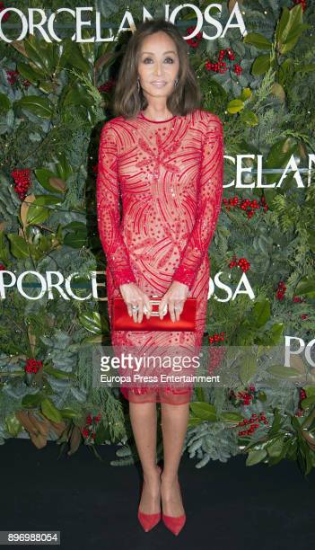 Isabel Preysler attends the opening of the new Porcelanosa store on December 21 2017 in Malaga Spain