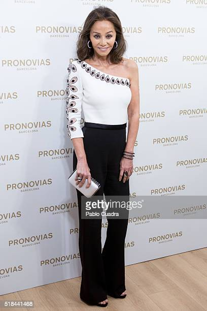 Isabel Preysler attends the opening party of Pronovias Flagship Store on March 31 2016 in Madrid Spain