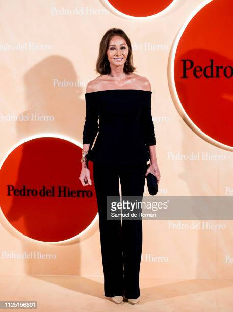 Isabel Preysler attends the Pedro Del Hierro fashion show during the Mercedes Benz Fashion Week Autumn/Winter 20192020 on January 26 2019 in Madrid...