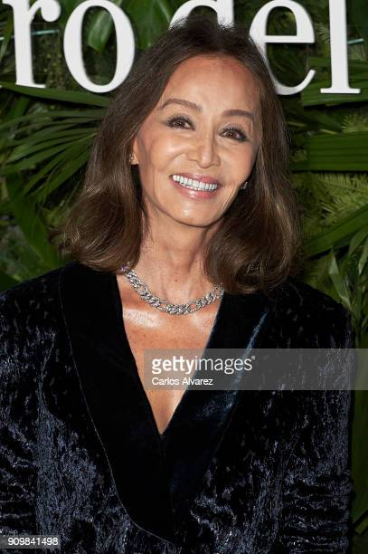 Isabel Preysler attends the Pedro Del Hierro fashion show during the Mercedes Benz Fashion Week Autumn/Winter 2018 on January 24 2018 in Madrid Spain