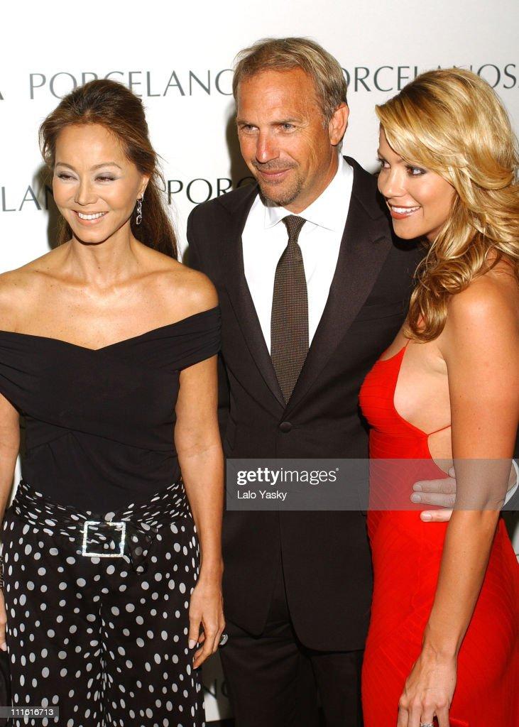 Kevin Costner and Christine Baumgartner at Porcelanosa Store Launch : News Photo