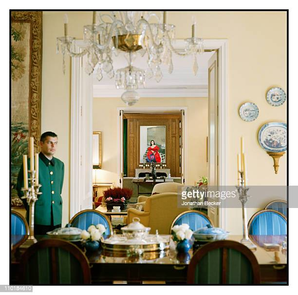 Isabel Preysler's home is photogrpahed for Vanity Fair Spain on October 13 2010 in Madrid Spain Published image