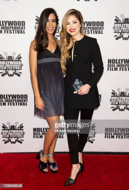 Isabel Quintero and Maria Gabriela Cardenas arrives at A Dark Foe Film Premiere on February 15 2020 in Los Angeles California