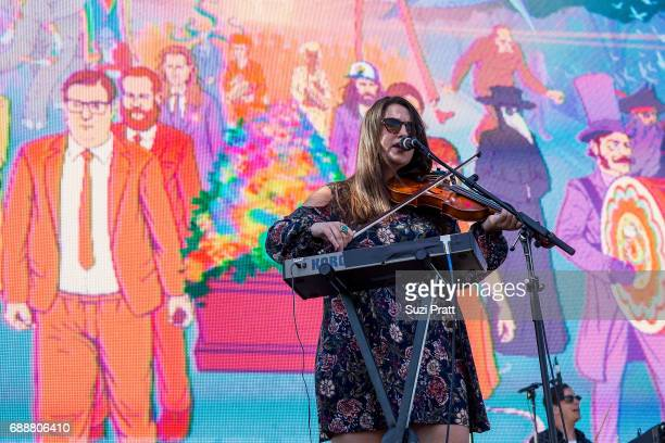 Isabel Ritchie of The Strumbellas performs at the Sasquatch Music Festival at Gorge Amphitheatre on May 26 2017 in George Washington