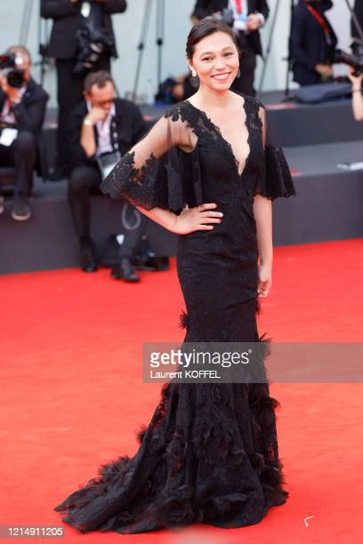 Isabel Sandoval walks the red carpet ahead of the closing ceremony of the 76th Venice Film Festival at Sala Grande on September 07 2019 in Venice...