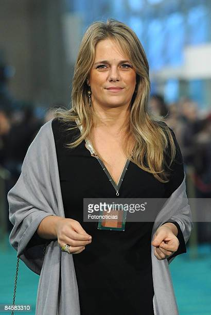 Isabel Sartorius arrives to Goya Cinema Awards ceremony at the Palacio Municipal de Congresos on February 1 2009 in Madrid Spain